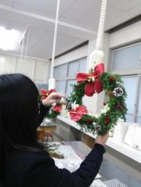 12 クリスマスリース 製作中(2014.12.12)