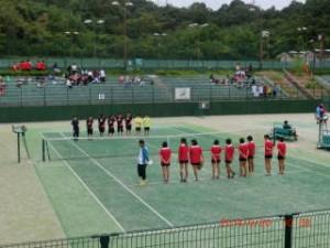女子テニス開会式