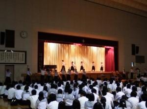 文化祭開会式