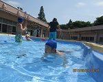 プールを楽しみました